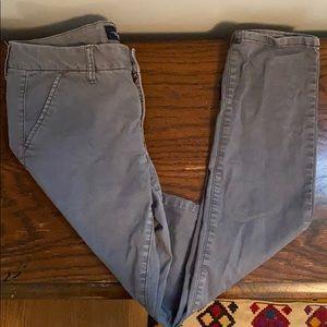 Steel Grey Skinny Khakis